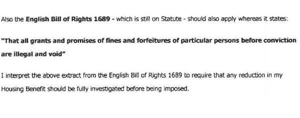 bill of rights bedroom tax