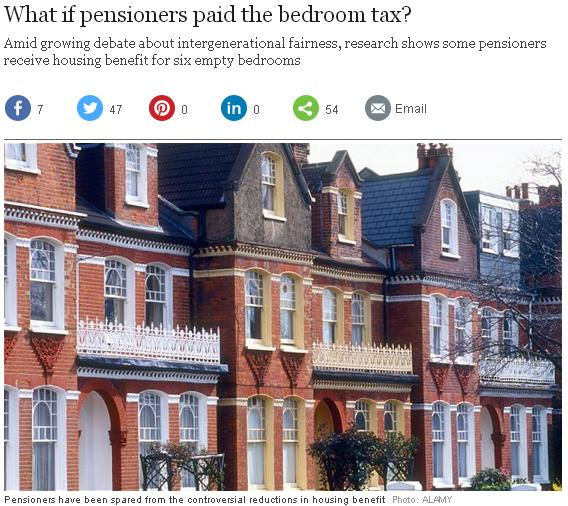 telegraph bedroom tax pensioner