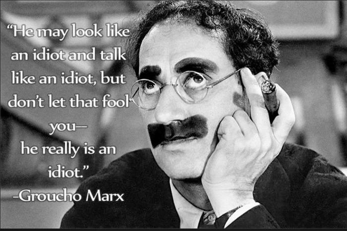 groucho idiot