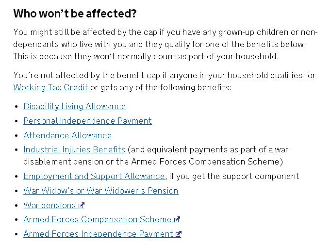 obc exempt benefits